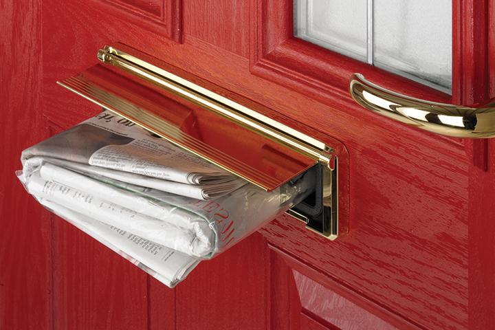 Composite door hardware from Enterprise Building Products