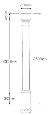 Plain Column Dimensions