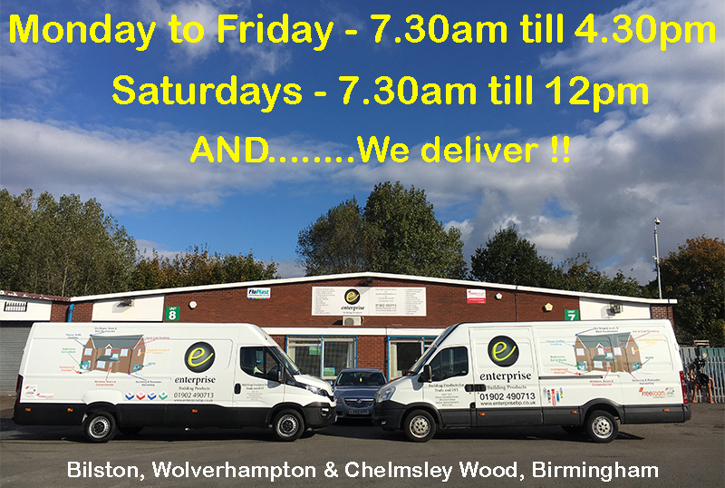 Enterprise are open 6 days a week - and we deliver