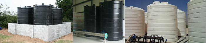 Vertical Rainwater Storage Tanks