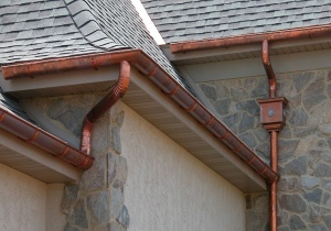 copper gutters - steel gutter
