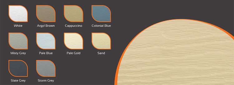 Fortex Textured Cladding Colours