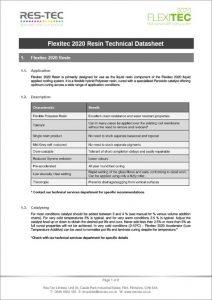 Flexitec2020 Technical Data Sheet