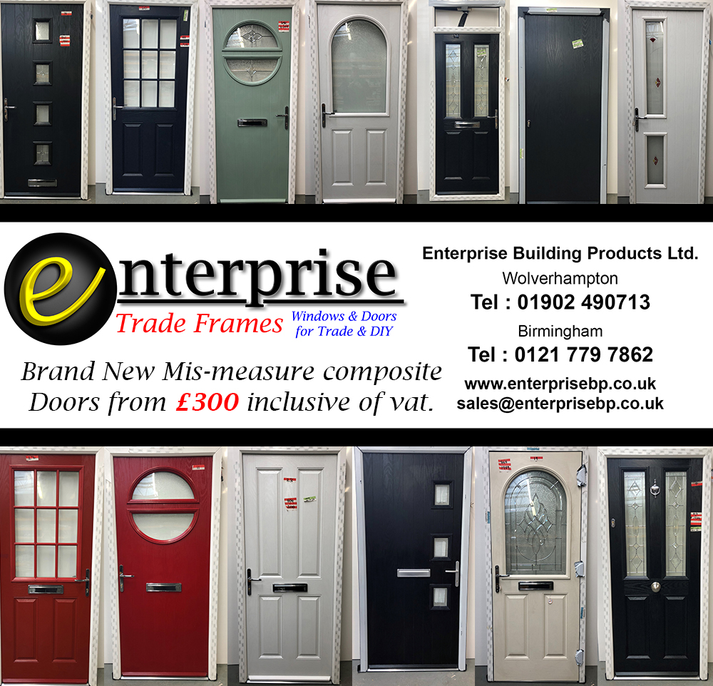 Mis-Measure composite doors from £300 including vat.