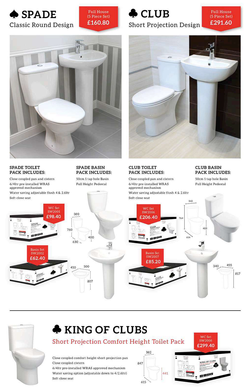 Bathroom suite from Enterprise Building Products